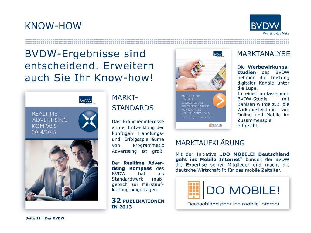 BVDW-Ergebnisse sind entscheidend. Erweitern auch Sie Ihr Know-how!