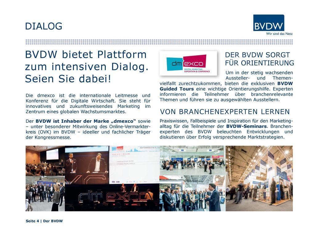 BVDW bietet Plattform zum intensiven Dialog. Seien Sie dabei!