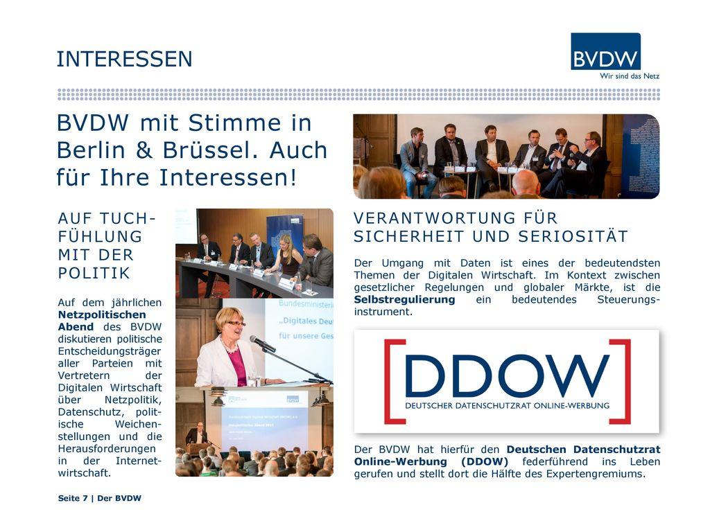 BVDW mit Stimme in Berlin & Brüssel. Auch für Ihre Interessen!