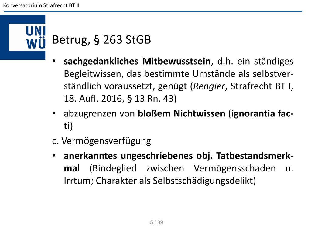 Betrug, § 263 StGB