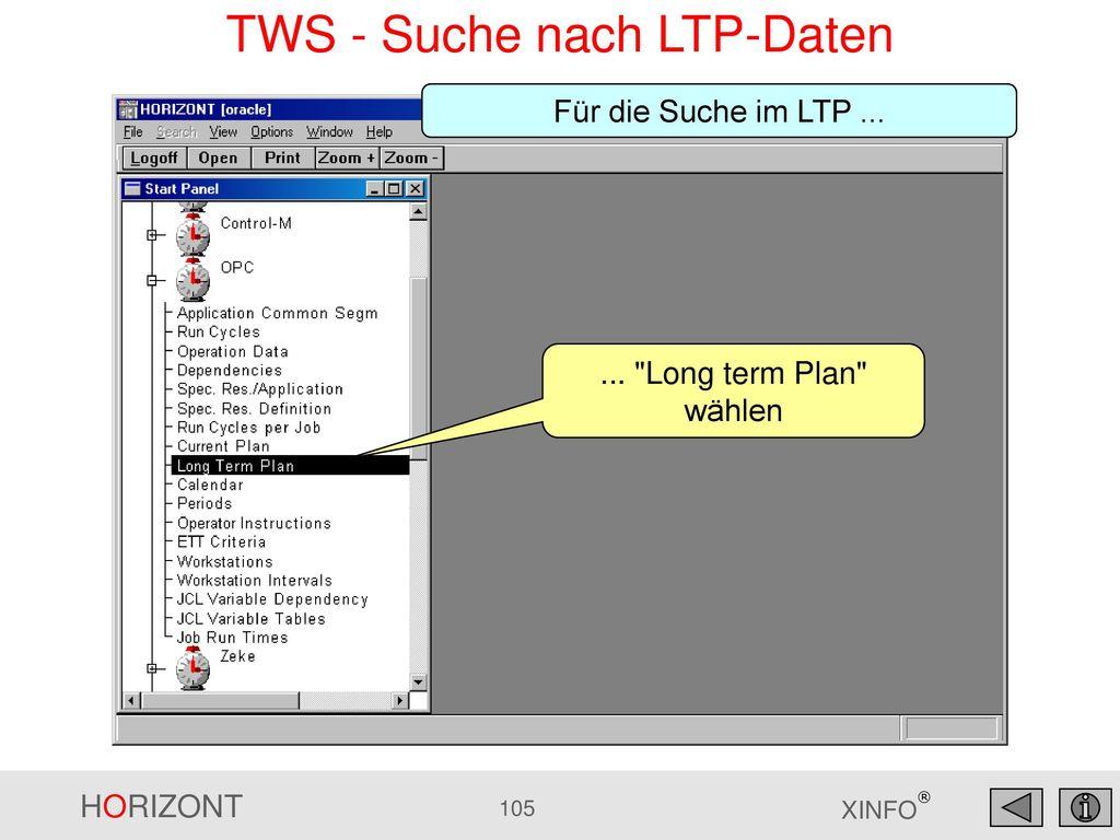 TWS - Suche nach LTP-Daten