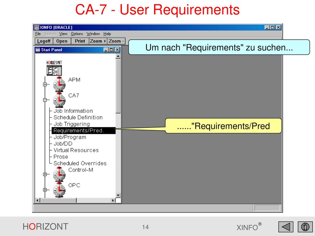 CA-7 - User Requirements