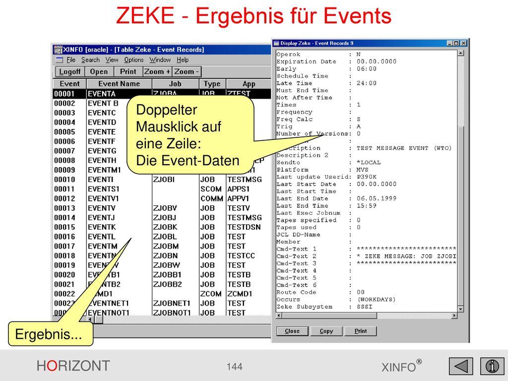 ZEKE - Ergebnis für Events