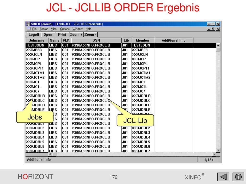 JCL - JCLLIB ORDER Ergebnis