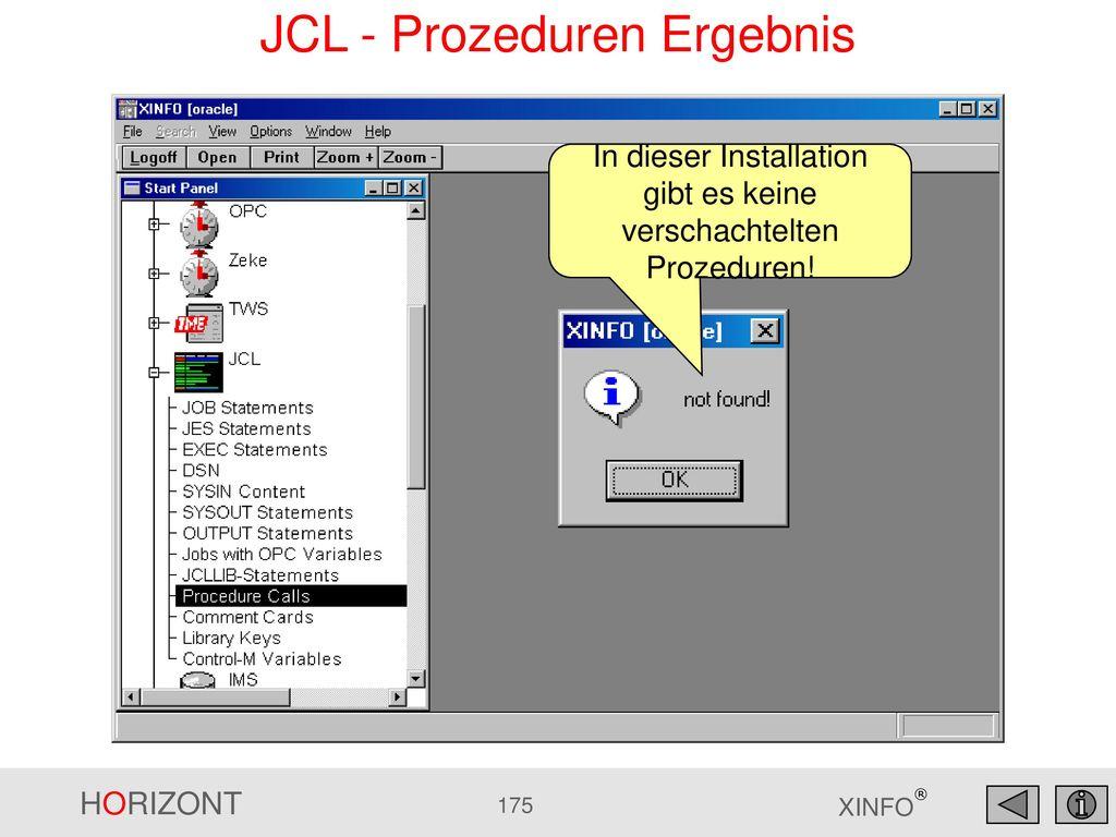 JCL - Prozeduren Ergebnis