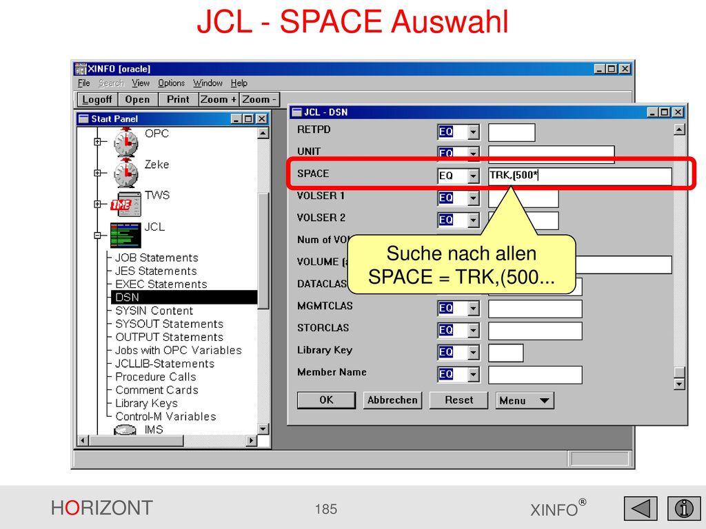 Suche nach allen SPACE = TRK,(500...