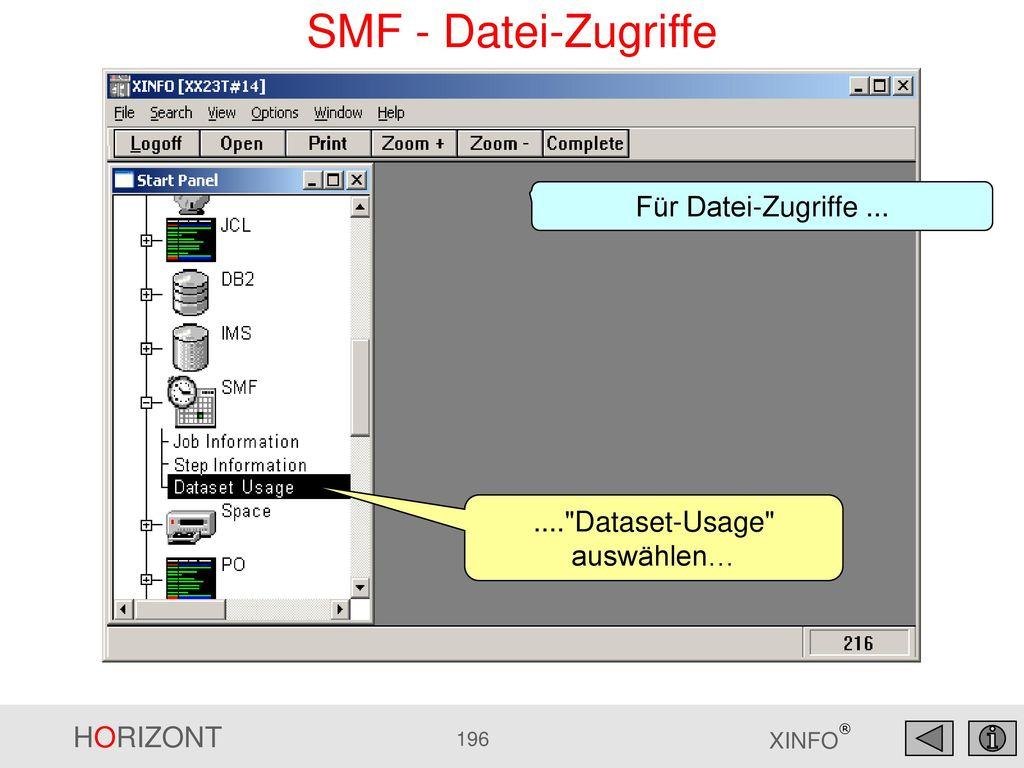 .... Dataset-Usage auswählen…