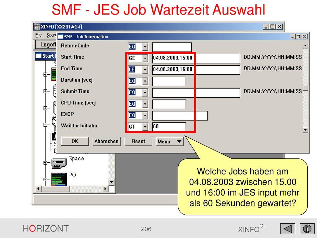 SMF - JES Job Wartezeit Auswahl