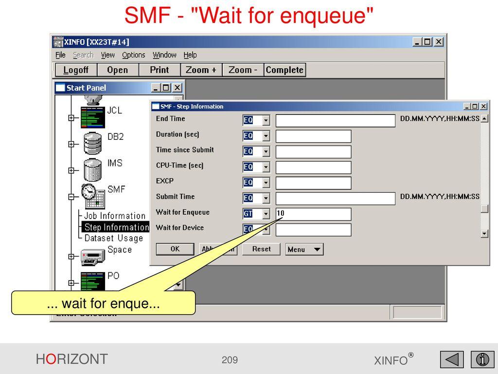 SMF - Wait for enqueue ... wait for enque...
