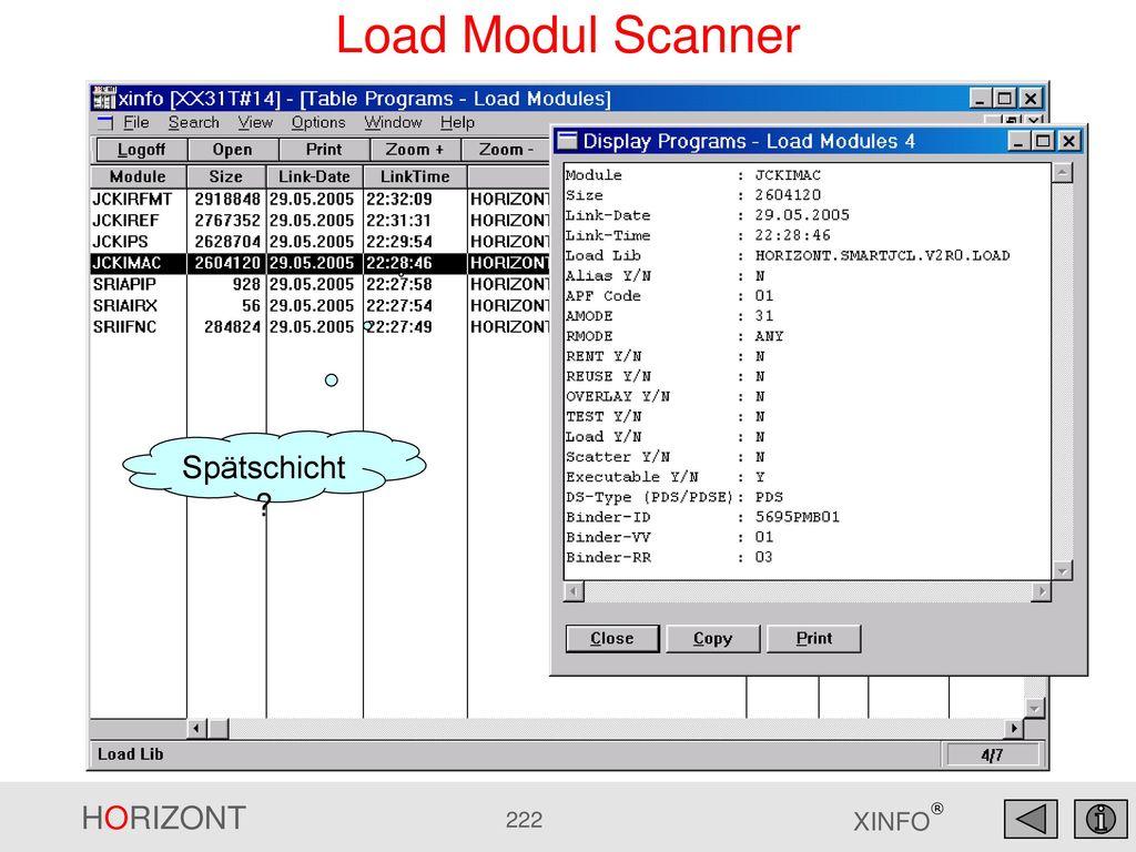 Load Modul Scanner Spätschicht