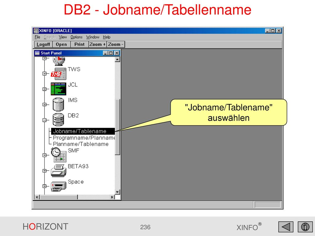 DB2 - Jobname/Tabellenname