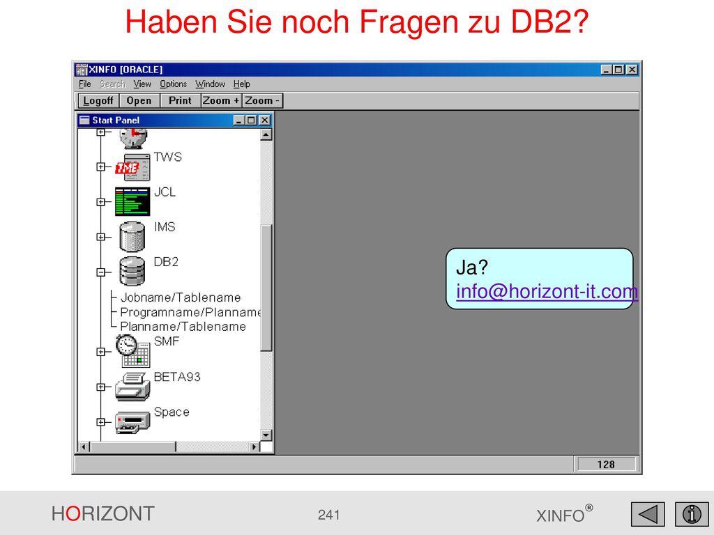 Haben Sie noch Fragen zu DB2