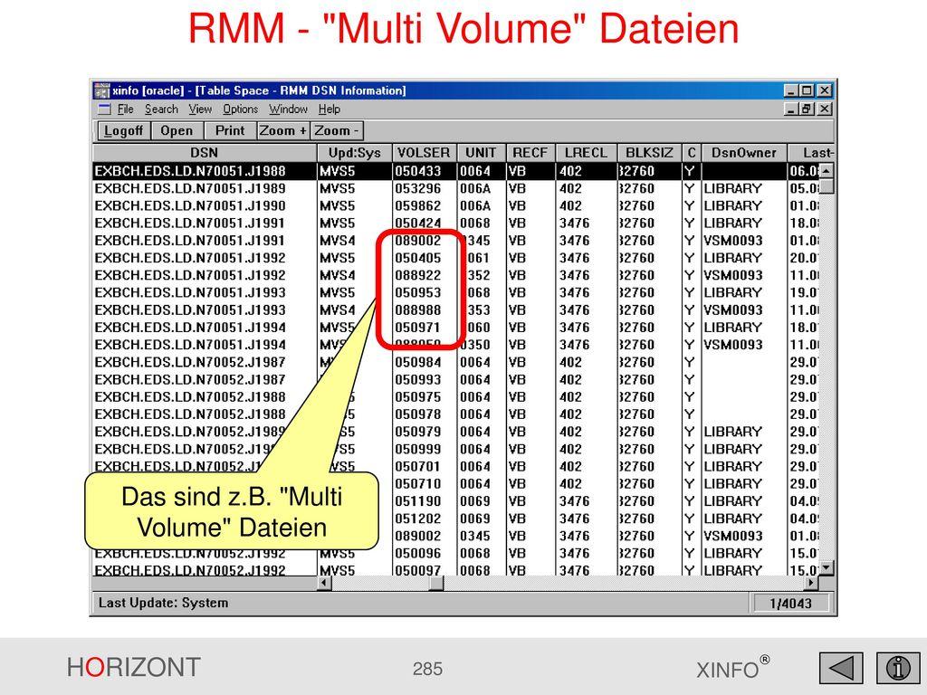 RMM - Multi Volume Dateien
