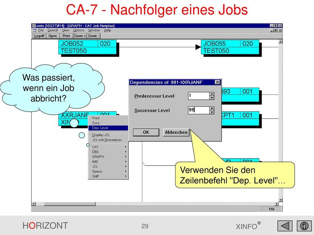 CA-7 - Nachfolger eines Jobs