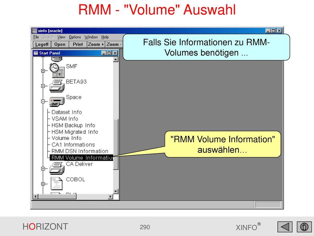 RMM - Volume Auswahl Falls Sie Informationen zu RMM-Volumes benötigen ...