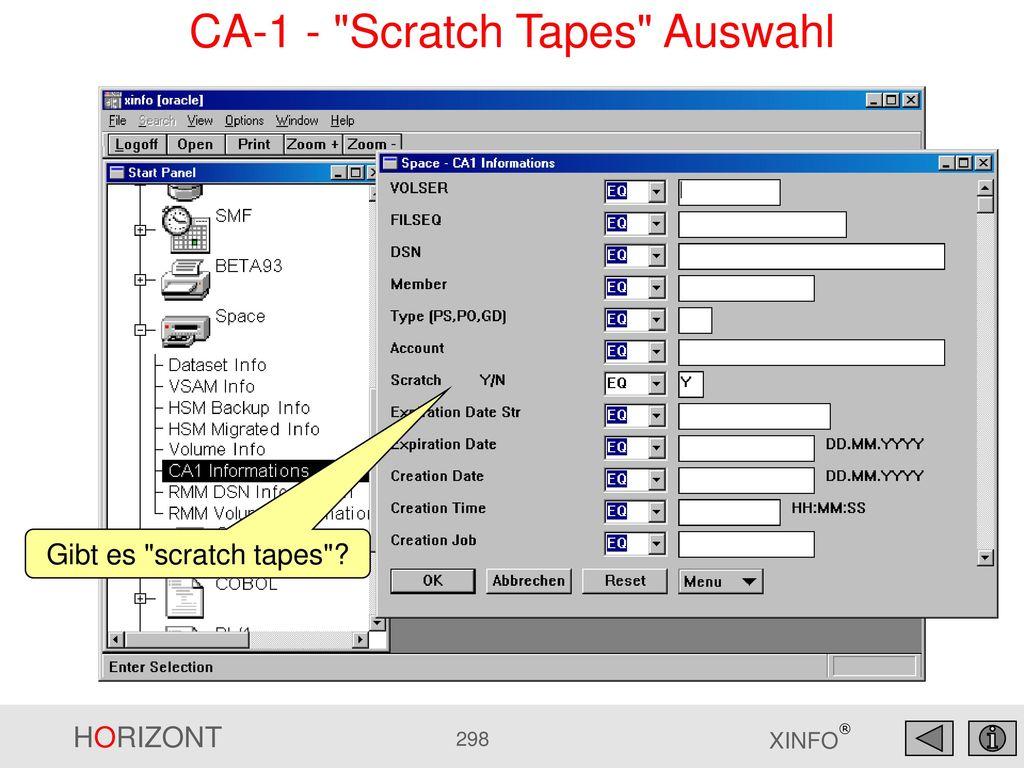 CA-1 - Scratch Tapes Auswahl