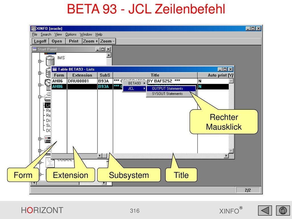 BETA 93 - JCL Zeilenbefehl