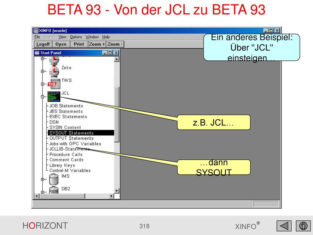 BETA 93 - Von der JCL zu BETA 93