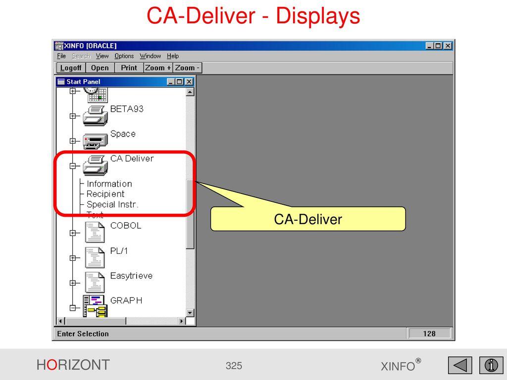 CA-Deliver - Displays CA-Deliver