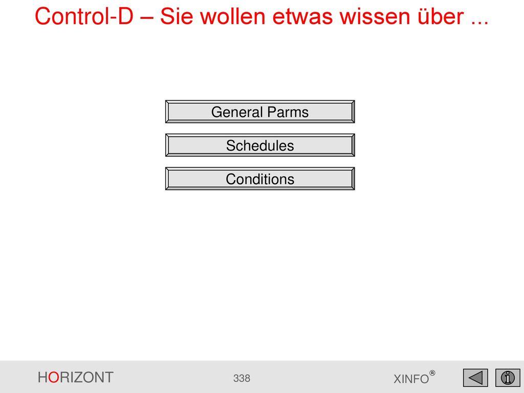 Control-D – Sie wollen etwas wissen über ...