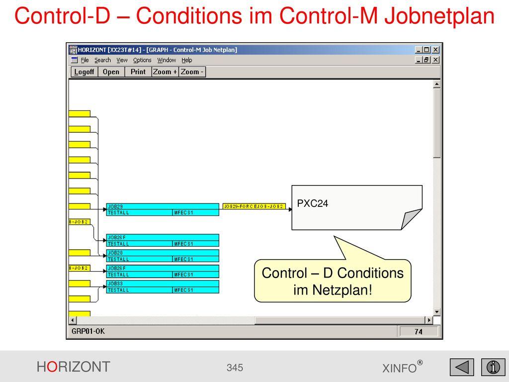 Control-D – Conditions im Control-M Jobnetplan