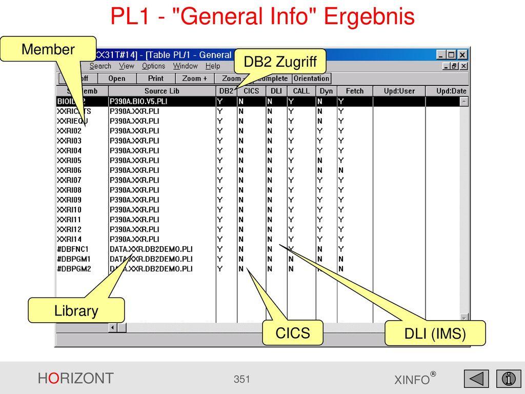 PL1 - General Info Ergebnis