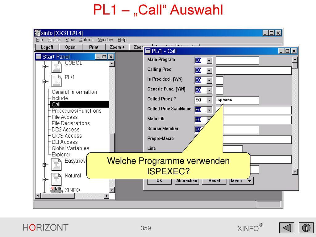 Welche Programme verwenden ISPEXEC