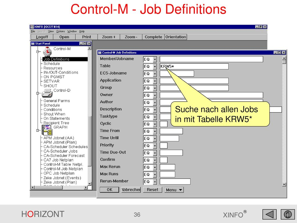 Control-M - Job Definitions