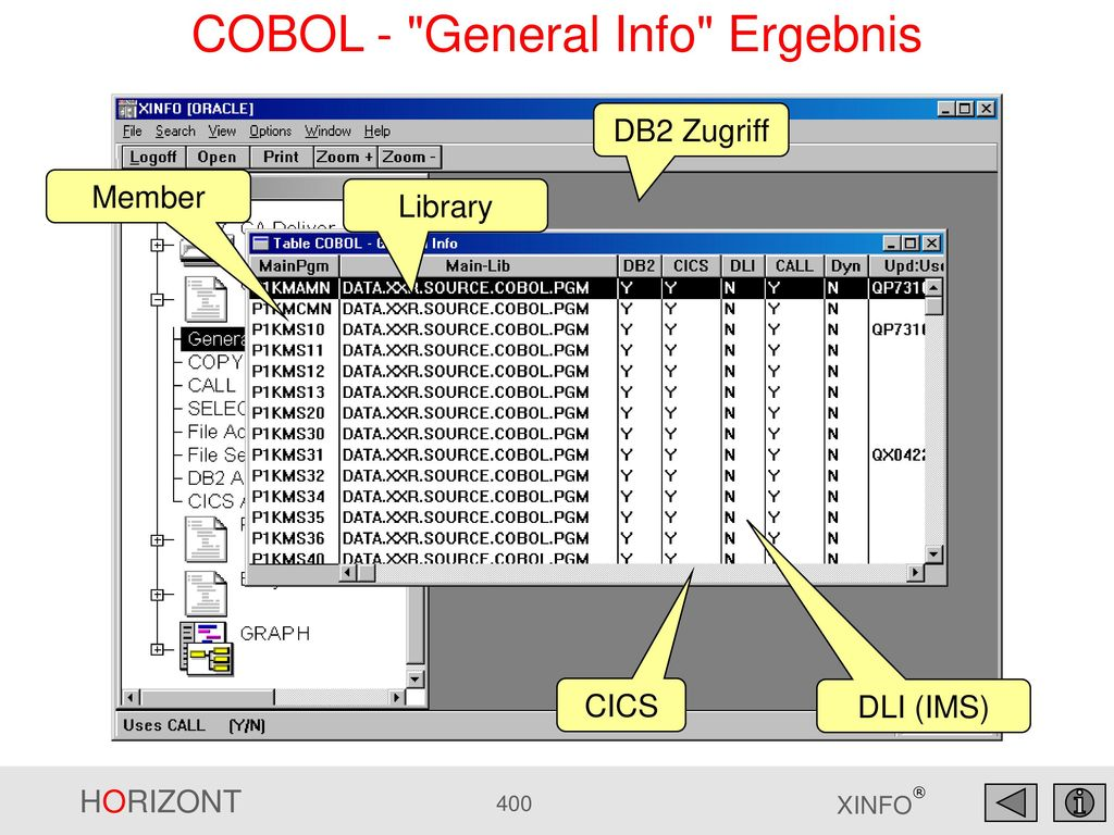 COBOL - General Info Ergebnis