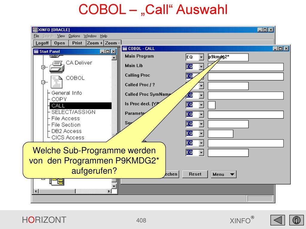 Welche Sub-Programme werden von den Programmen P9KMDG2* aufgerufen