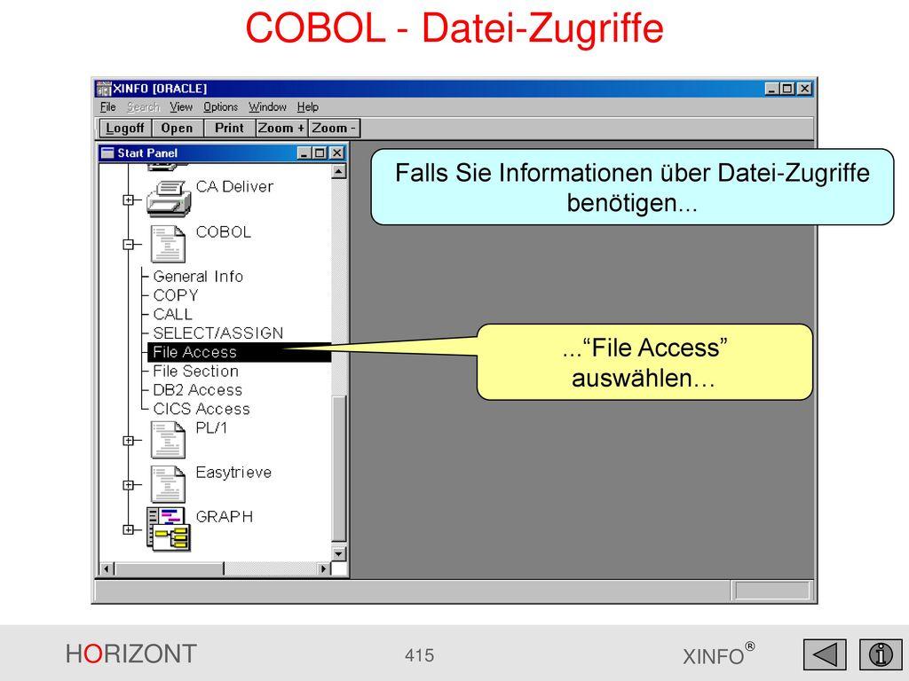 COBOL - Datei-Zugriffe