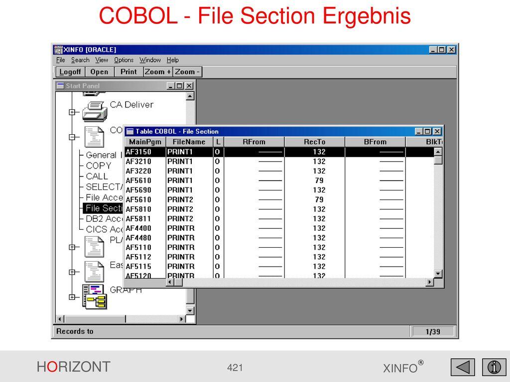 COBOL - File Section Ergebnis