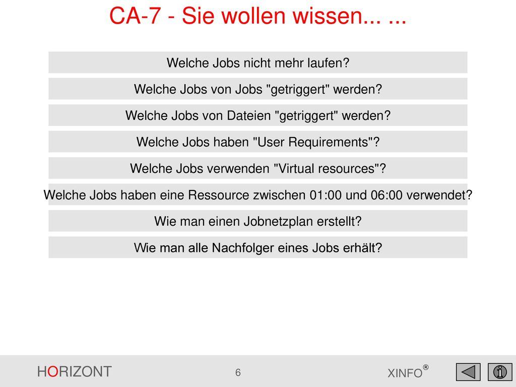 CA-7 - Sie wollen wissen... ... Welche Jobs nicht mehr laufen
