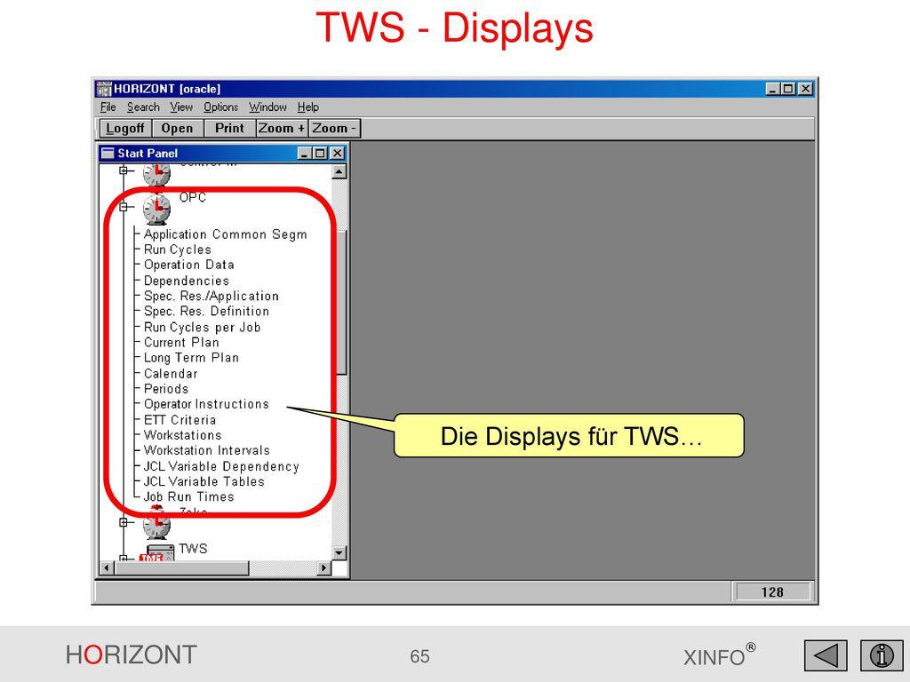 TWS - Displays Die Displays für TWS…