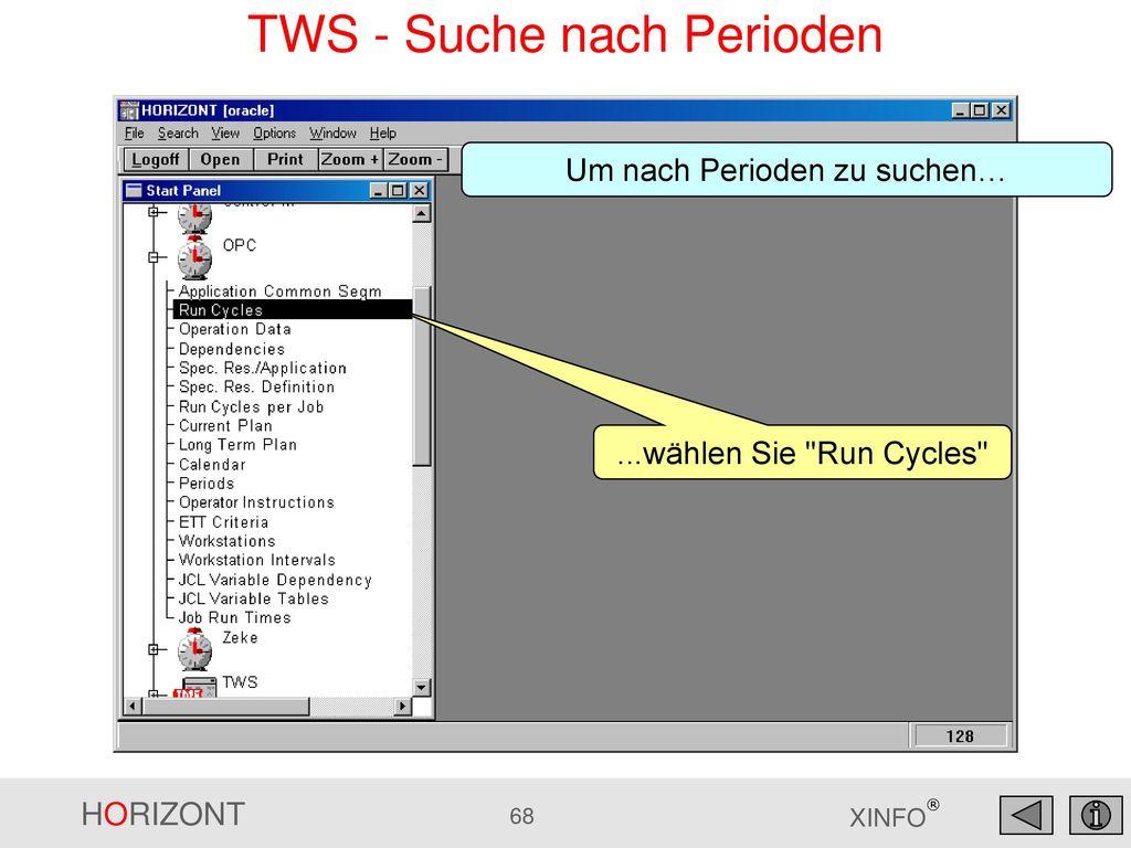 TWS - Suche nach Perioden