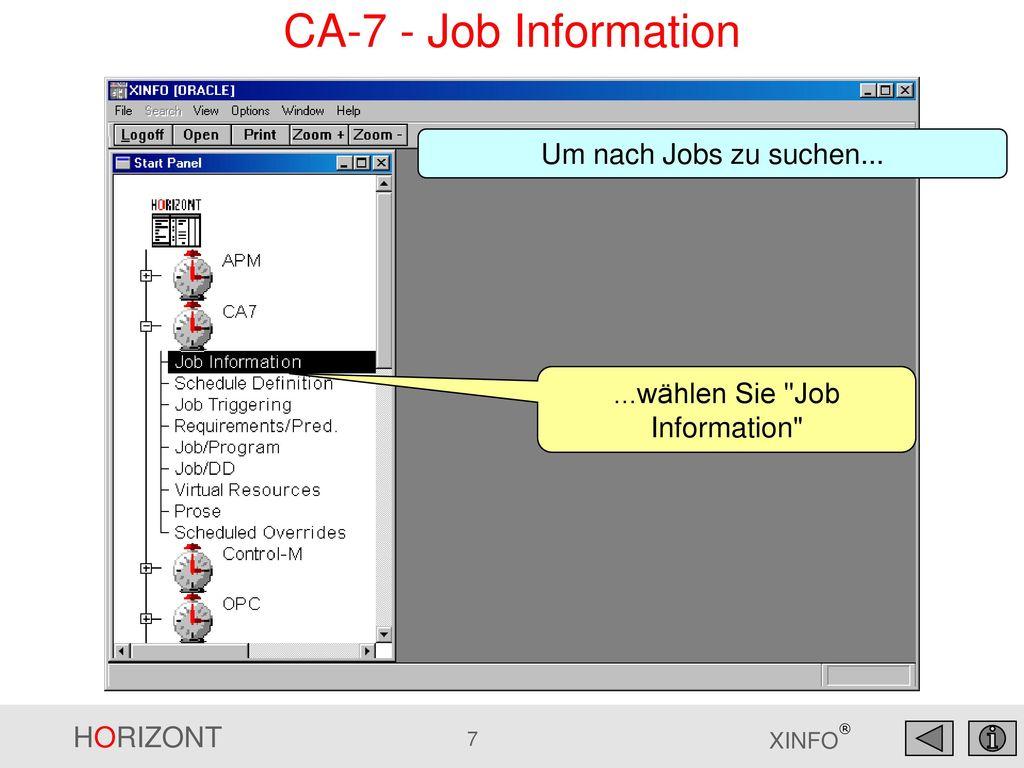 ...wählen Sie Job Information