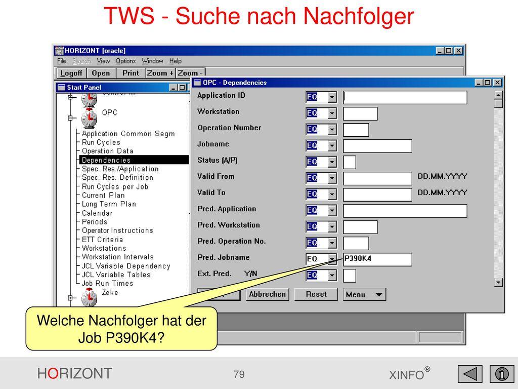 TWS - Suche nach Nachfolger