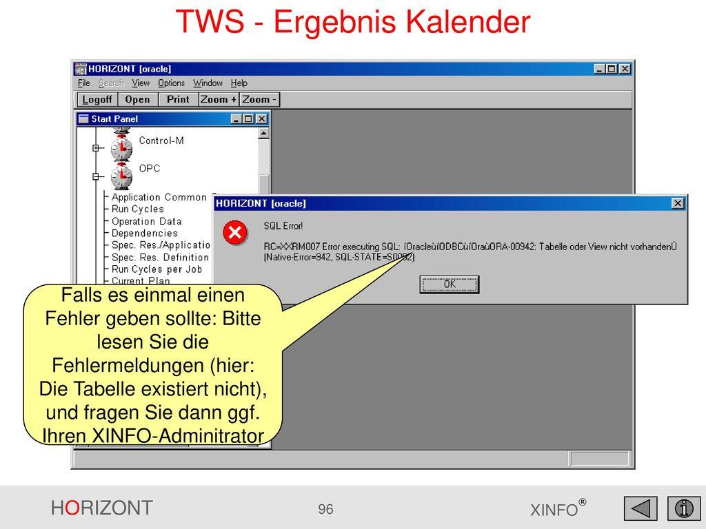 TWS - Ergebnis Kalender