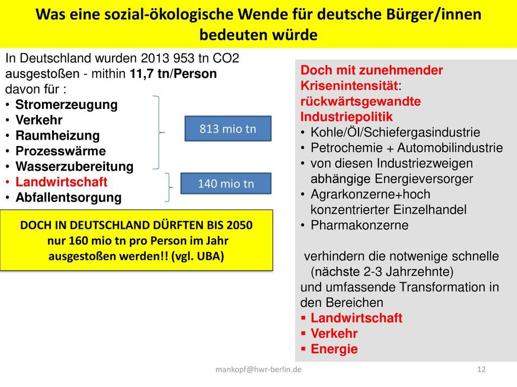 Was eine sozial-ökologische Wende für deutsche Bürger/innen bedeuten würde