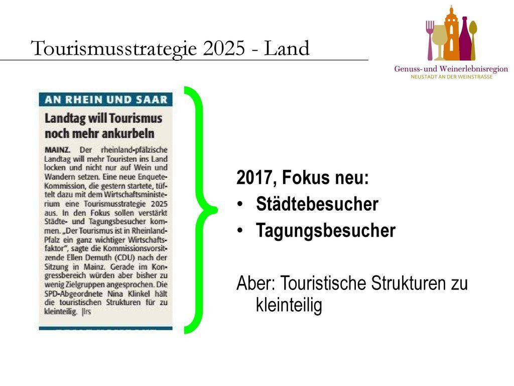 Tourismusstrategie 2025 - Land