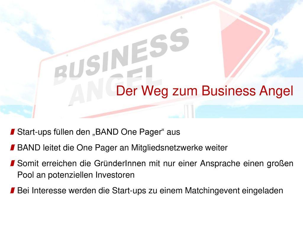 Der Weg zum Business Angel