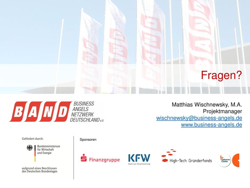 Fragen Matthias Wischnewsky, M.A. Projektmanager