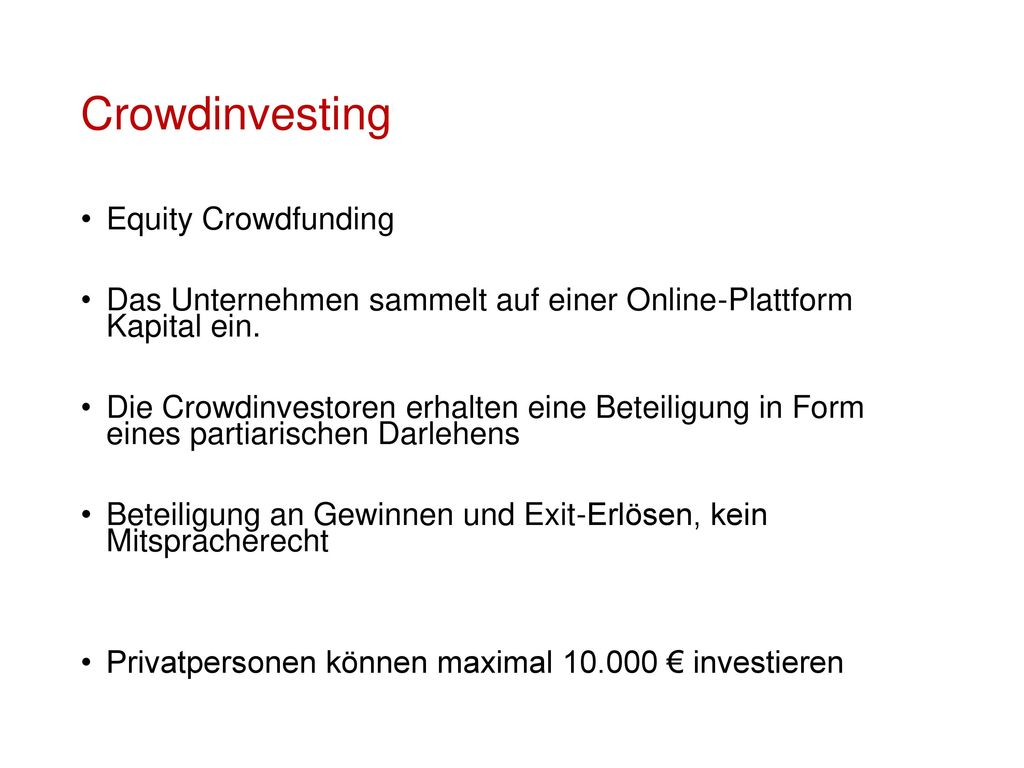 Crowdinvesting Equity Crowdfunding