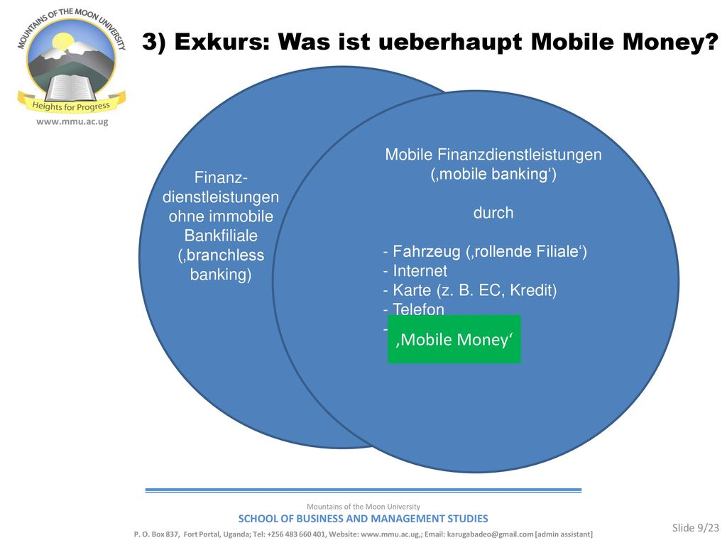 Mobile Finanzdienstleistungen ('mobile banking')