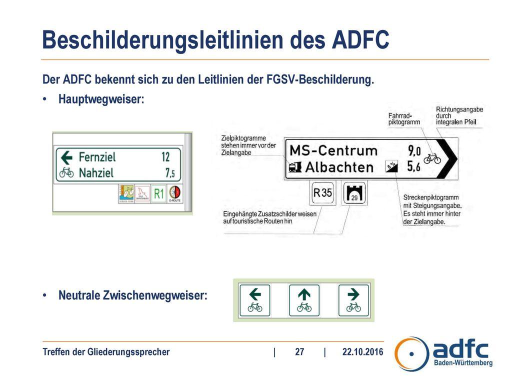 Beschilderungsleitlinien des ADFC