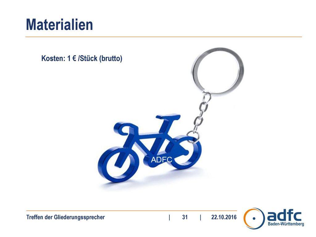 Kosten: 1 € /Stück (brutto)