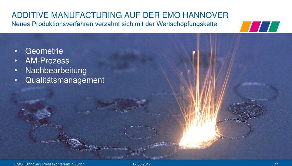 ADDITIVE MANUFACTURING AUF DER EMO HANNOVER