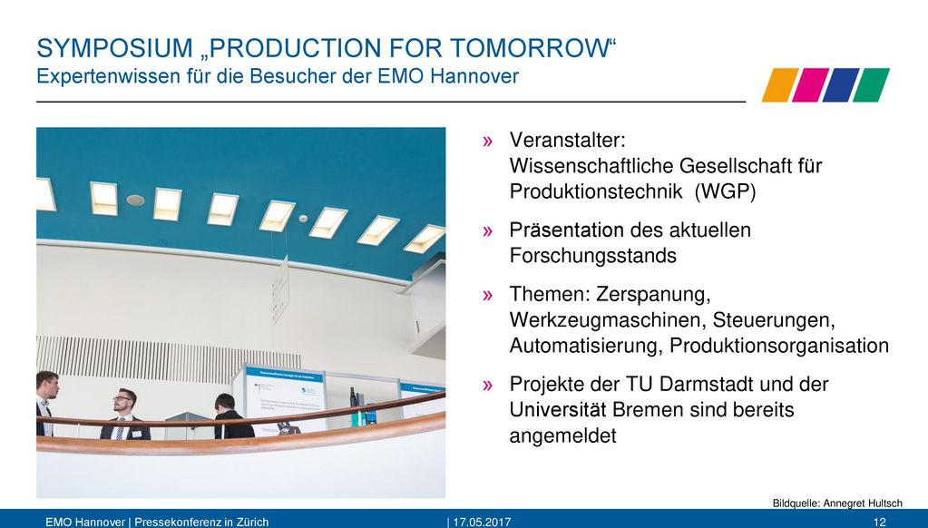 "SYMPOSIUM ""PRODUCTION FOR TOMORROW"