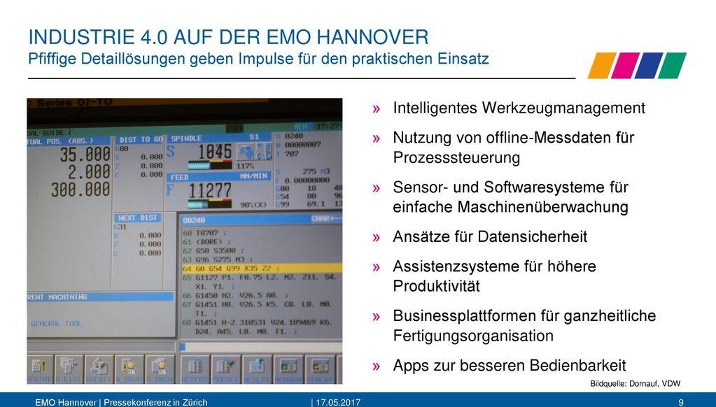 INDUSTRIE 4.0 AUF DER EMO HANNOVER