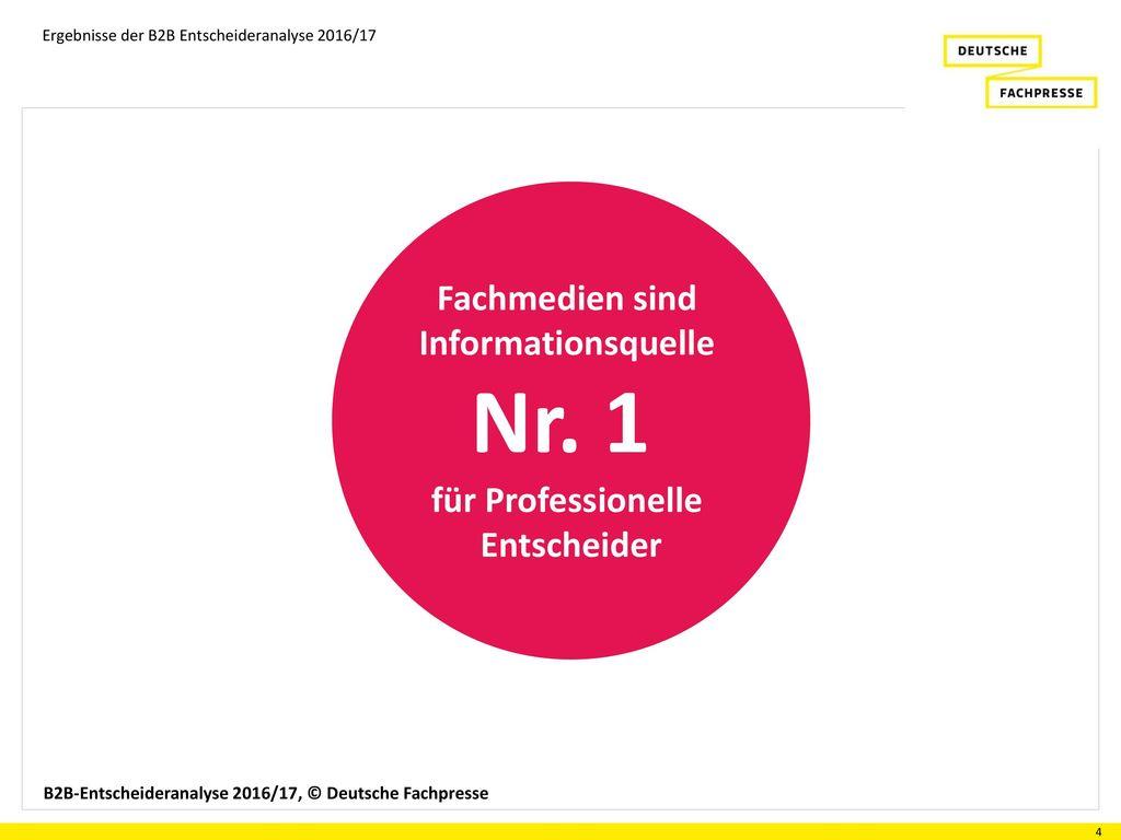 Nr. 1 Fachmedien sind Informationsquelle für Professionelle